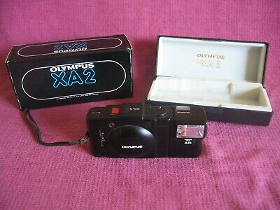 Olympus XA2 35mm Compact Film Camera with A11 Flash and Box