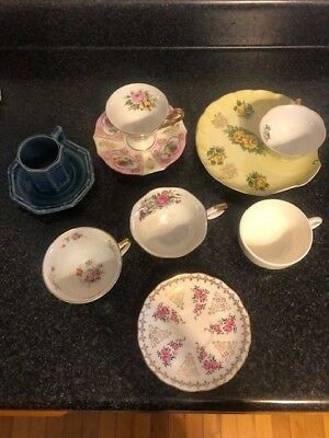 Mixed Lot Vintage CUPS & SAUCERS