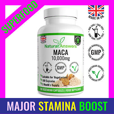 Maca Root 180 Capsules Extract Pills 10,000mg SEXUAL Health ENERGY STAMINA NEW