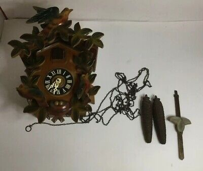 Vintage West Germany Black Forest Cuckoo Clock