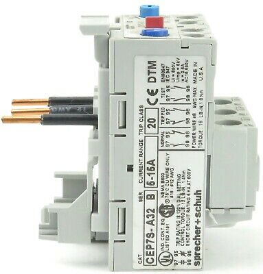 S+S CEP7S-A32-15-20 Overload Relay 5-15A use with CA7-9,-12,-16,-23 CA4-5,-9