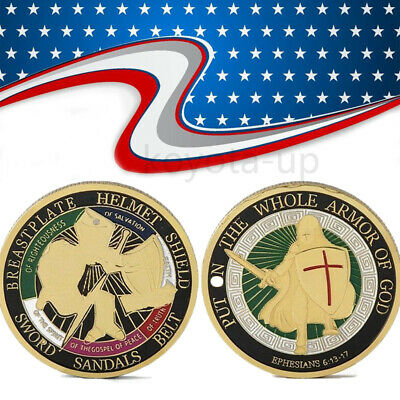 Put on the Whole Armor of God Commemorative Challenge Coin Collection Gift KY
