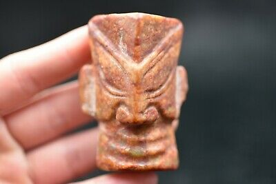 China master Hand carved Hongshan Culture Old jade amulet Pendant Y180