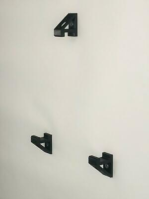 Set of Wall Brackets For PS4 SLIM PlayStation 4 Console In Black