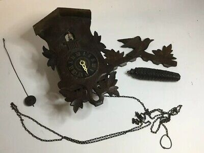 Antique Germany Black Forest Cuckoo Clock ,