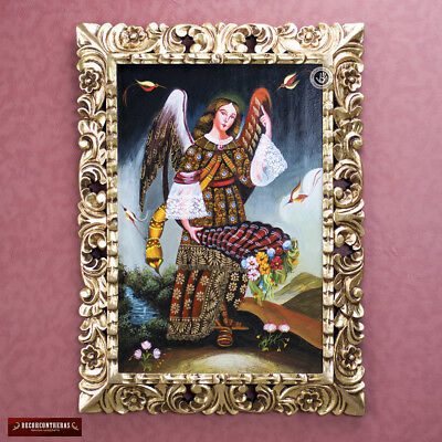 Archangel Gabriel - Colonial replica Painting from Peru- Cuzco Painting on Wood