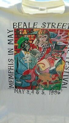 BEALE ST FESTIVAL MEMPHIS  VINTAGE T SHIRT RARE LIKE NEW size XL Memphis in May