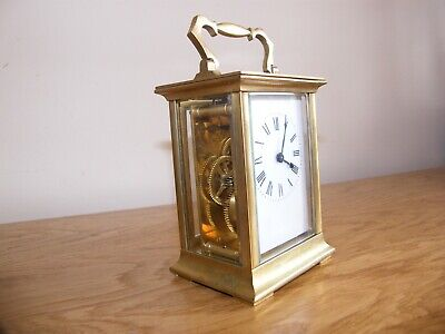 Nice French 5 glass carriage clock GWO