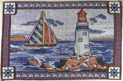 Nautical Placemats Tapestry Cloth Style C 1 piece Seashells and Starfish