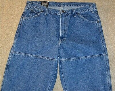 fc6e87f2961 DICKIES Mens 38 X 34 Relaxed Fit Workhorse Double Knee Denim Jeans  Stonewashed