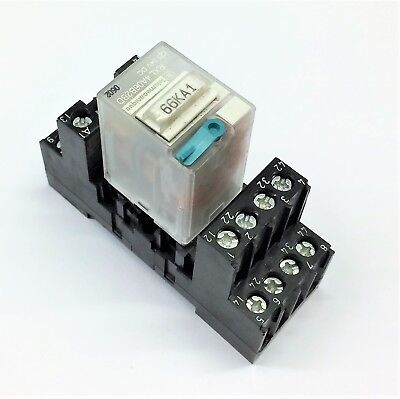 Telemecanique Rxl 4A06B2Bd 24V Dc Relay With Base