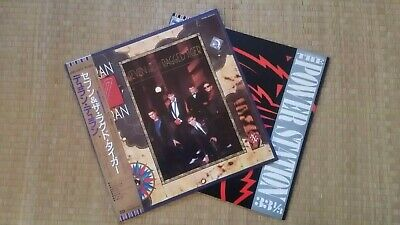 Duran Duran Seven And The Ragged Tiger LP & The Power Station Self-Titled LP obi