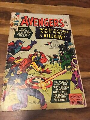 The Avengers Silver Age Comic # 15; 1965! Fair/ Good!