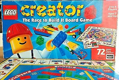 Vtg Lego Creator Board Game The Race To Build It New In Opened Box