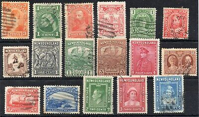 Old Newfoundland Stamps From Victoria To George  V1