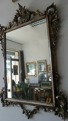 Large 1900 Antique Mirror Antique Mirror Sheet' Silver