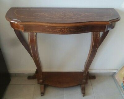 Console Console Wood Inlaid Furniture Antique Italy Art