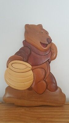 Wooden 3D Winnie The Pooh Wall Plaque