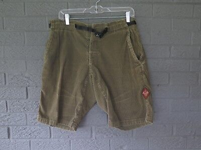 b233303044 Prana Wide Wale Corduroy Outdoor Hiking Shorts Size Medium In Brown Green