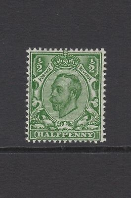 GB KGV 1/2d Green SG339 George V 1912 Mint Hinged Downey Stamp