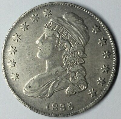 1835 50C Capped Bust Half Dollar XF Uncertified #