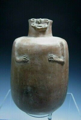 Pre Columbian Colombia Calima Hominoid Shape Pottery Vessel ca 300 BC- 300 AD
