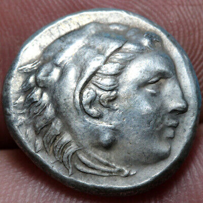 Greek Coin Alexander The Great SILVER Drachm 336-323 BC Heracles Head-Zeus