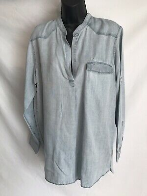 New Gap Women Light Blue Denim Shirt Size Large