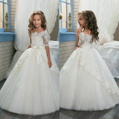Wedding Party Flower Girl Dress Holy Communion Party Prom Dress Princess Pageant