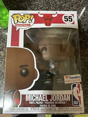 Funko POP NBA Chicago Bulls Black Jersey Michael Jordan Fanatics Exclusive # 55