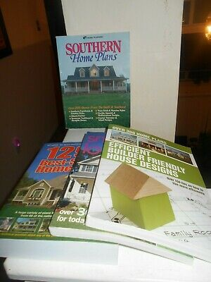 Lot of 4 Home Plans Over 1745 Plans  Southern /Efficient/Small/Best Free Shippin