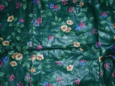 """Longaberger Liner, EMERALD VINE Fabric, Fits The """"TALL TISSUE"""" Basket NEW!!!"""