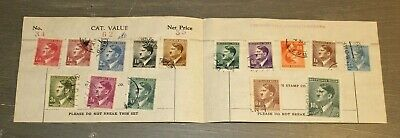 GERMANY Third Reich Hitler Complete Set of 15 Used