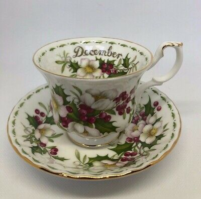 Royal Albert 1970 December Cup & Saucer Flower of the Month Series PERFECT!