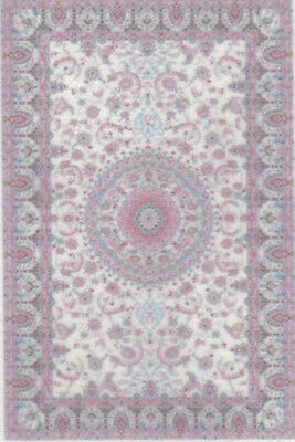 """0001767 1:48 or 1//4/"""" Scale Dollhouse Miniature Area Rug Approx 1-3//4/"""" x 2-5//8/"""""""