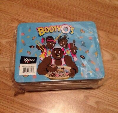 THE NEW DAY BOOTY-O/'S BOOTY O TIN LUNCH BOX CASE WWE WRESTLING OFFICIAL WWF RAW