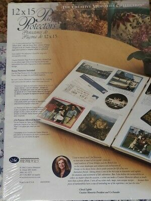 Creative Memories 12 X 15  NEW Page Protectors 15 Sheets 1 bonus 32 Pages 2002