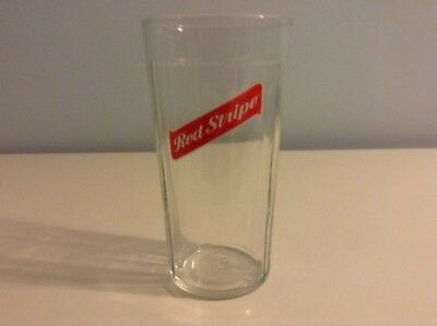 1 x NEW RED STRIPE EMBOSSED JAMAICA LAGER BEER PINT GLASS