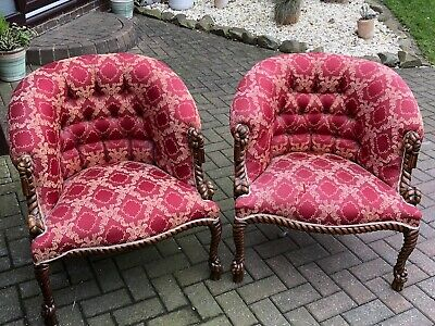 2 Victorian Barley Twist Chairs