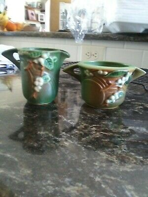 Roseville Pottery Cream and Sugar 1 S & 1 C