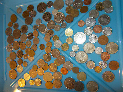 more than 1 lb UNSEARCHED Foreign WORLD COINS, more than 1 lb!