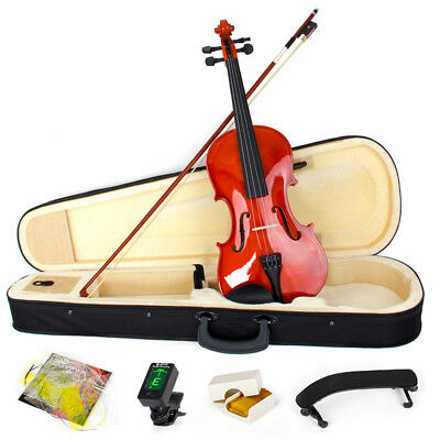 Violin 4/4 Full Size Natural Acoustic Fiddle Musical Instruments Rosin Wood