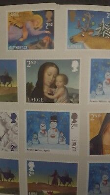 Large | 2nd Class | x 40 Royal Mail GB Stamps (Peelable) unfranked