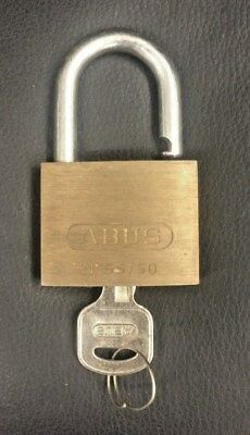 Vintage ABUS Number 55 / 50 Brass Padlock With Key
