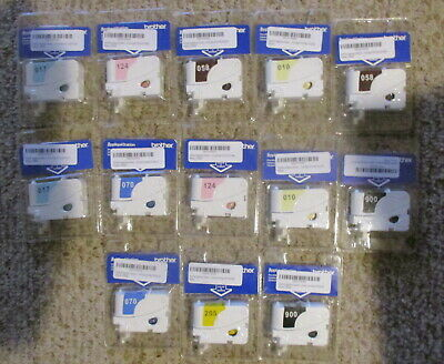 Massive Lot Of 14 Brother Applique Station Pre Filled Thread Cartridges