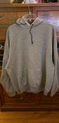 H0206 Fruit Of The Loom Gray Casual Cotton Hooded Sweatshirt Size 2Xl Combine Sh