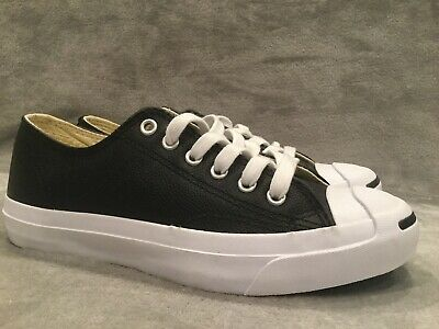 383b82dadb0d00 Converse Womens Jack Purcell Leather Low Black Ox Sneakers Size 6.5