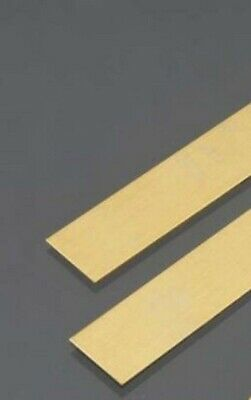 """Brass Flat Stock  1//4/"""" x 1/"""" x 1Ft  Alloy 360 Mill 12/"""" Long Solid Rectangle Strip"""