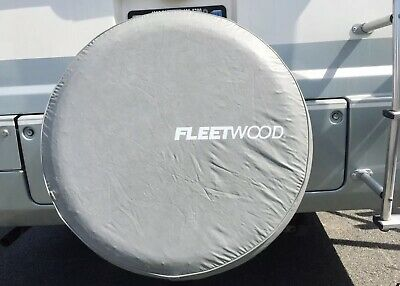 """Fleetwood Spare Tire Cover For RV Trailer soft Grey Wheel Tire Cover 25"""""""