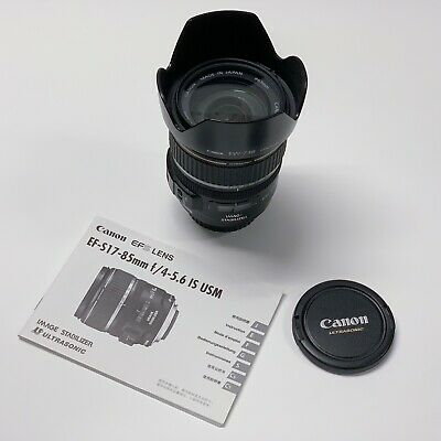 [Excellent] Canon EF-S 17-85mm f/4-5.6 IS USM Zoom Lens w/ Canon UV Haze Filter